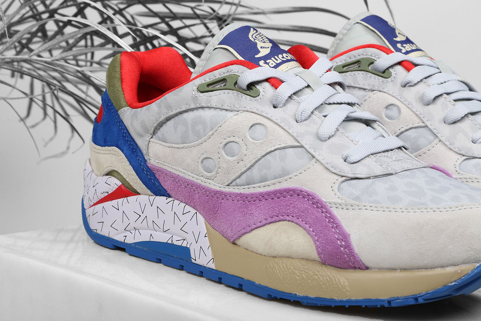 "Bodega x Saucony Elite G9 Shadow 6 ""Pattern Recognition"" Pack 4"