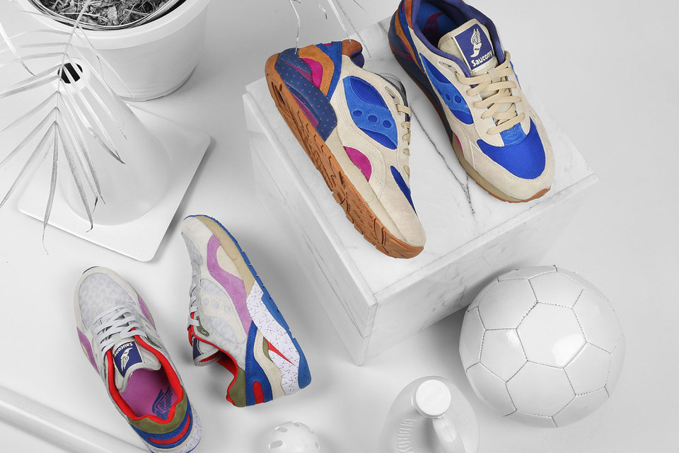 "Bodega x Saucony Elite G9 Shadow 6 ""Pattern Recognition"" Pack 5"