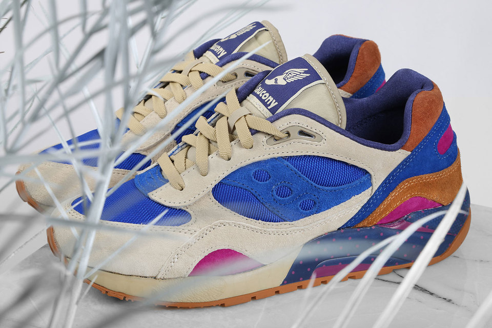 "Bodega x Saucony Elite G9 Shadow 6 ""Pattern Recognition"" Pack 6"