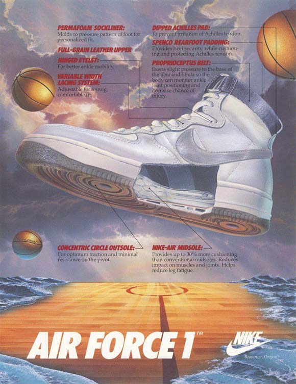 Nike goes back to '82 with the Air Force 1 High QS OG Retro