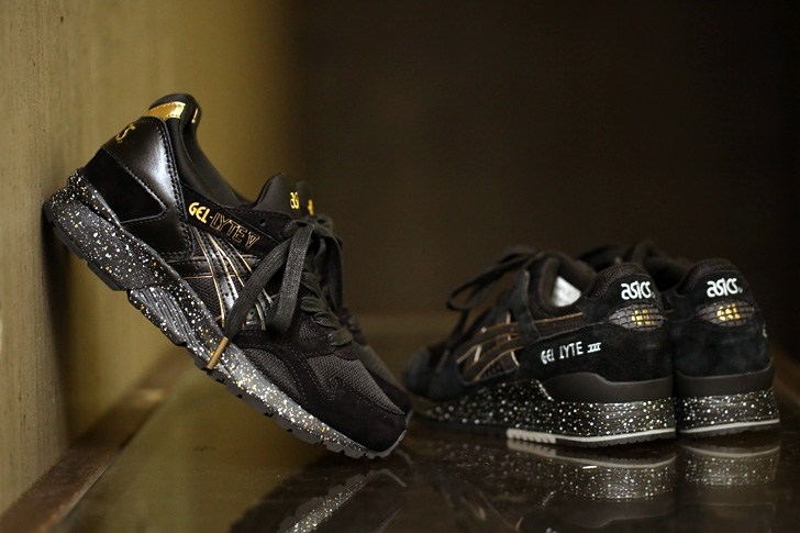 atmos x ASICS Tiger GEL-LYTE V black gold 575800aae