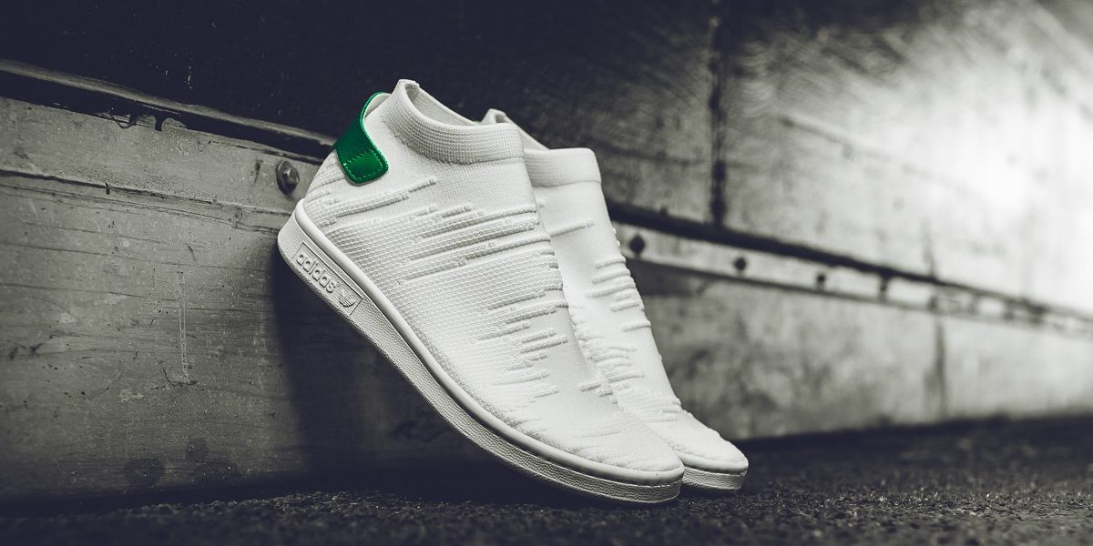 Adidas Stan Smith Sock Primeknit White Green