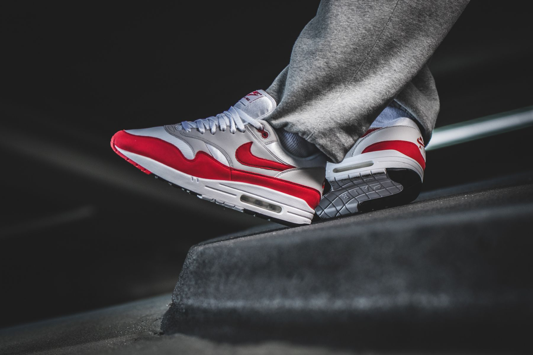 """new product 855df 2ee97 Restock: Nike Air Max 1 OG Retro """"Anniversary"""" Red – SOLE ..."""