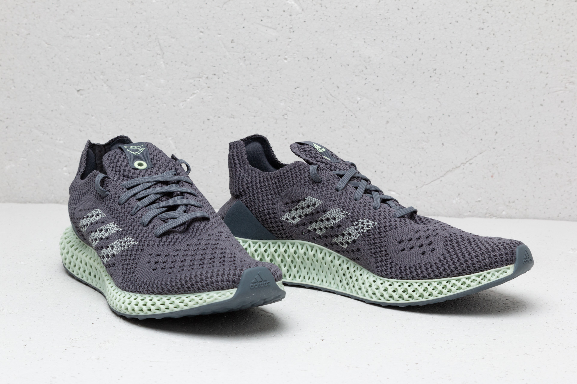 adidas futurecraft 4d consortium onyx grey release date aero green D96972 sole and shape