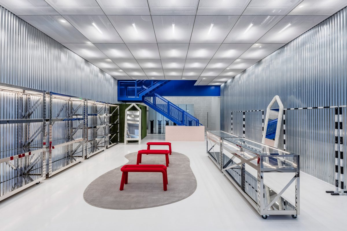 off white flagship store miami design district virgil abloh samir bantal sole and shape